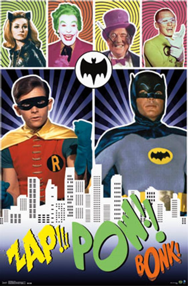 Batman Poster 1966 Tv Series Adam West Burt Ward 22x34