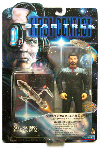 "Riker/"" Figure First Contact Playmates Star Trek /""Commander William T"