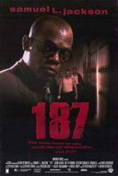 187 movie poster [Samuel L. Jackson] 27 X 40 video version NM