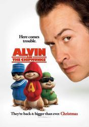 Alvin and the Chipmunks movie poster [Jason Lee] 27x40 advance