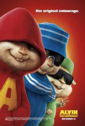 Alvin and the Chipmunks movie poster (2007) 27x40 advance