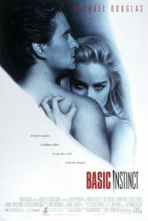 Basic Instinct movie poster [Sharon Stone, Michael Douglas] NM 27x40