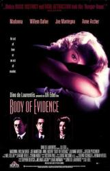 Body Of Evidence movie poster [Madonna, Willem Dafoe & Anne Archer]