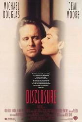 Disclosure movie poster [Michael Douglas & Demi Moore] video/NM