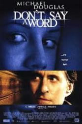 Don't Say a Word movie poster [Michael Douglas, Brittany Murphy] 27x40