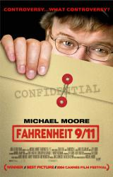 Fahrenheit 9/11 movie poster [Michael Moore] 27x40 original one-sheet