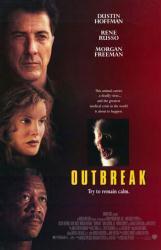 Outbreak movie poster [Dustin Hoffman, Rene Russo, Morgan Freeman]