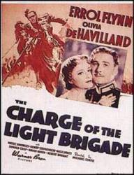 Charge of the Light Brigade poster [Errol Flynn, Olivia de Havilland]