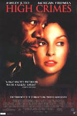 High Crimes movie poster [Morgan Freeman, Ashley Judd] 27x40 NM