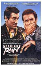 Midnight Run movie poster [Robert DeNiro, Charles Grodin] 27x41