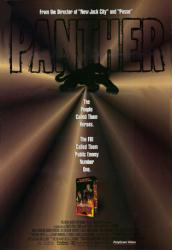 Panther movie poster [a Mario Van Peebles film] video poster/VG