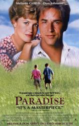 Paradise [w/ Don Johnson & Melanie Griffith] (Video Movie Poster) Nr. Mint