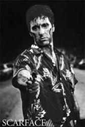 Scarface movie poster [Al Pacino in Tiger shirt] 24'' X 34''
