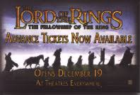 The Lord of the Rings: Fellowship of the Ring promo pinback (3''X 2'')