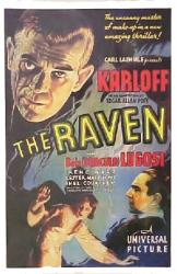 The Raven movie poster [Boris Karloff & Bela Lugosi] 11'' X 17''