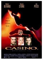 Casino movie poster [Robert DeNiro/Joe Pesci/Sharon Stone] 11'' X 17''