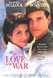 In Love and War [w/ Sandra Bullock & Chris O'Donnell] (Video Movie Poster) Nr. Mint