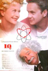 I.Q. movie poster [Tim Robbins, Meg Ryan & Walter Matthau] video/VG