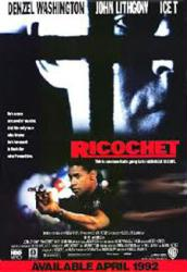 Ricochet movie poster [Denzel Washington, John Lithgow] 27x40