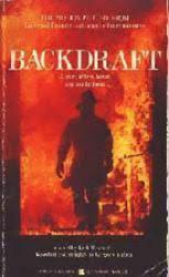 Backdraft paperback book/1991 [film artwork on cover] Movie Tie-In