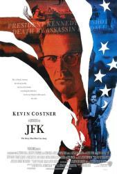 JFK movie poster [Kevin Costner] an Oliver Stone film (27x40) VG
