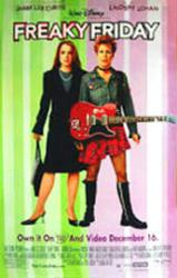 Freaky Friday movie poster [Lindsay Lohan, Jamie Lee Curtis] 26x40
