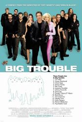 Big Trouble movie poster [Tim Allen, Omar Epps & Rene Russo] blue