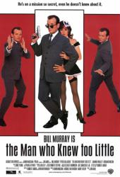 The Man Who Knew Too Little movie poster [Bill Murray] video/Good