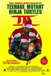 Teenage Mutant Ninja Turtles III movie poster [Santa hat variant]