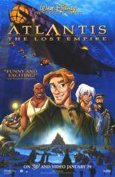 Atlantis: The Lost Empire movie poster [Disney] 26x40