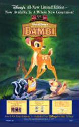 Bambi movie poster [Walt Disney] 26x40 video poster (NM)