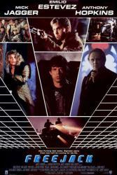 Freejack movie poster [Mick Jagger/Emilio Estevez/Anthony Hopkins] VG