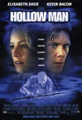 Hollow Man movie poster [Kevin Bacon & Elisabeth Shue] video version