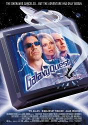 Galaxy Quest movie poster [Tim Allen/Sigourney Weaver/Alan Rickman] VG