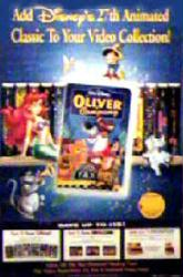 Oliver & Company movie poster (Disney) 26x40