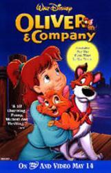 Oliver & Company movie poster [Disney] 26 X 40 video version