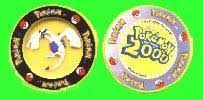 Pokemon The Movie 2000 (13 plastic chips) 1 1/3 inches each