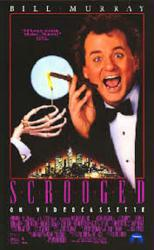 Scrooged movie poster [Bill Murray] 23 X 37 video version