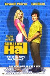Shallow Hal movie poster [Jack Black, Gwyneth Paltrow] 27x40 video GD