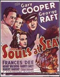 Souls At Sea movie poster [Gary Cooper, George Raft & Frances Dee]