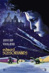 Edward Scissorhands movie poster [Johnny Depp/Tim Burton] video poster