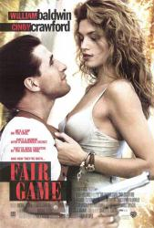 Fair Game movie poster [Cindy Crawford, William Baldwin] 27x40
