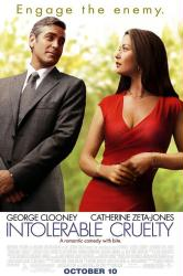Intolerable Cruelty [w/ George Clooney & Catherine Zeta-Jones] (Theatrical Movie Poster) Very Good