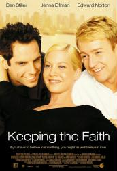 Keeping the Faith movie poster /Ben Stiller/Jenna Elfman/Edward Norton