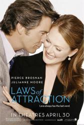 Laws of Attraction movie poster [Pierce Brosnan & Julianne Moore]