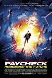 Paycheck movie poster (a John Woo film) [Ben Affleck] NM