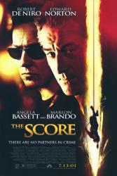 The Score movie poster [Robert DeNiro & Edward Norton]