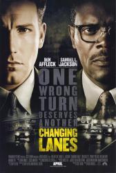 Changing Lanes movie poster [Ben Affleck & Samuel L. Jackson] 27x40