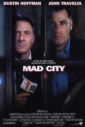 Mad City movie poster [Dustin Hoffman, John Travolta] 27x40 VG