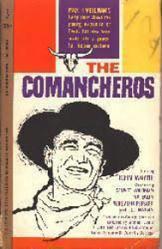 The Comancheros paperback book/1961 [John Wayne drawn on cover]